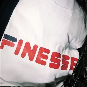 Other - Finesse Tee - White w/ Red